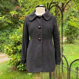 Piko 1988 Wool Blend Cropped Coat Charcoal Medium